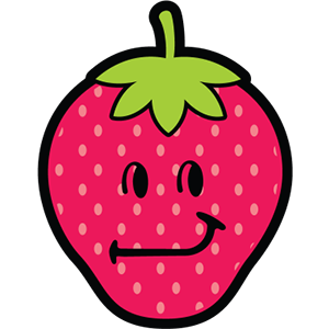 Smiley Strawberries messages sticker-2