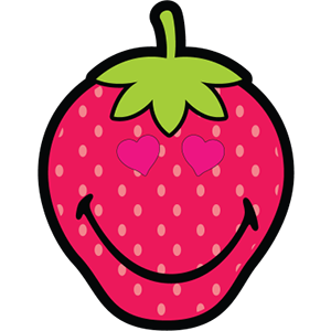 Smiley Strawberries messages sticker-9