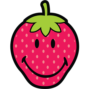Smiley Strawberries messages sticker-0