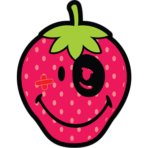 Smiley Strawberries messages sticker-6