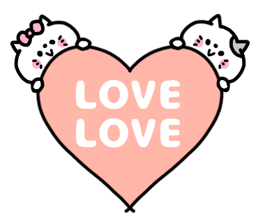 Love Love Couple Pea Sticker messages sticker-0