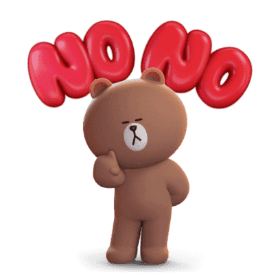 Brown 3D - LINE FRIENDS messages sticker-5