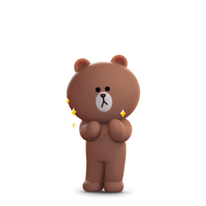 Brown 3D - LINE FRIENDS messages sticker-7