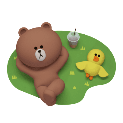 Brown 3D - LINE FRIENDS messages sticker-9