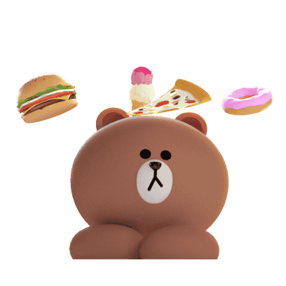 Brown 3D - LINE FRIENDS messages sticker-1