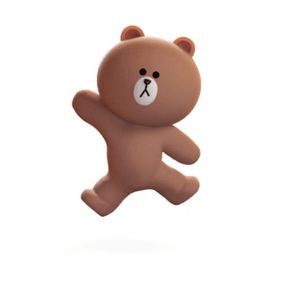 Brown 3D - LINE FRIENDS messages sticker-6