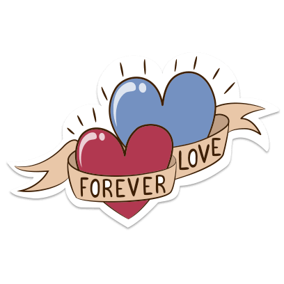 Love Stickers + Quotes - 80's Vintage & Retro Set messages sticker-4