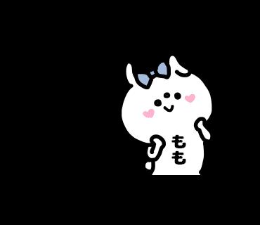 Momo-chan Sticker messages sticker-4