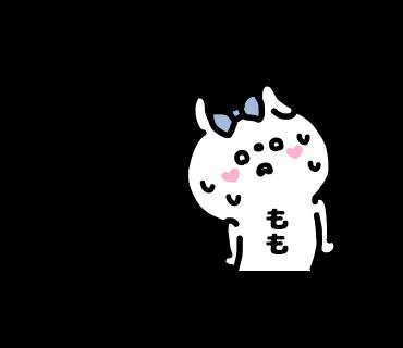 Momo-chan Sticker messages sticker-7