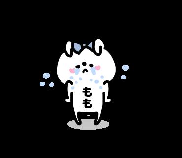 Momo-chan Sticker messages sticker-3