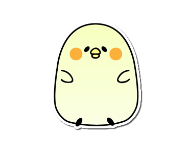 Seal of the chick messages sticker-2