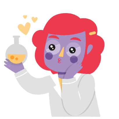 Vera, the Scientist messages sticker-10