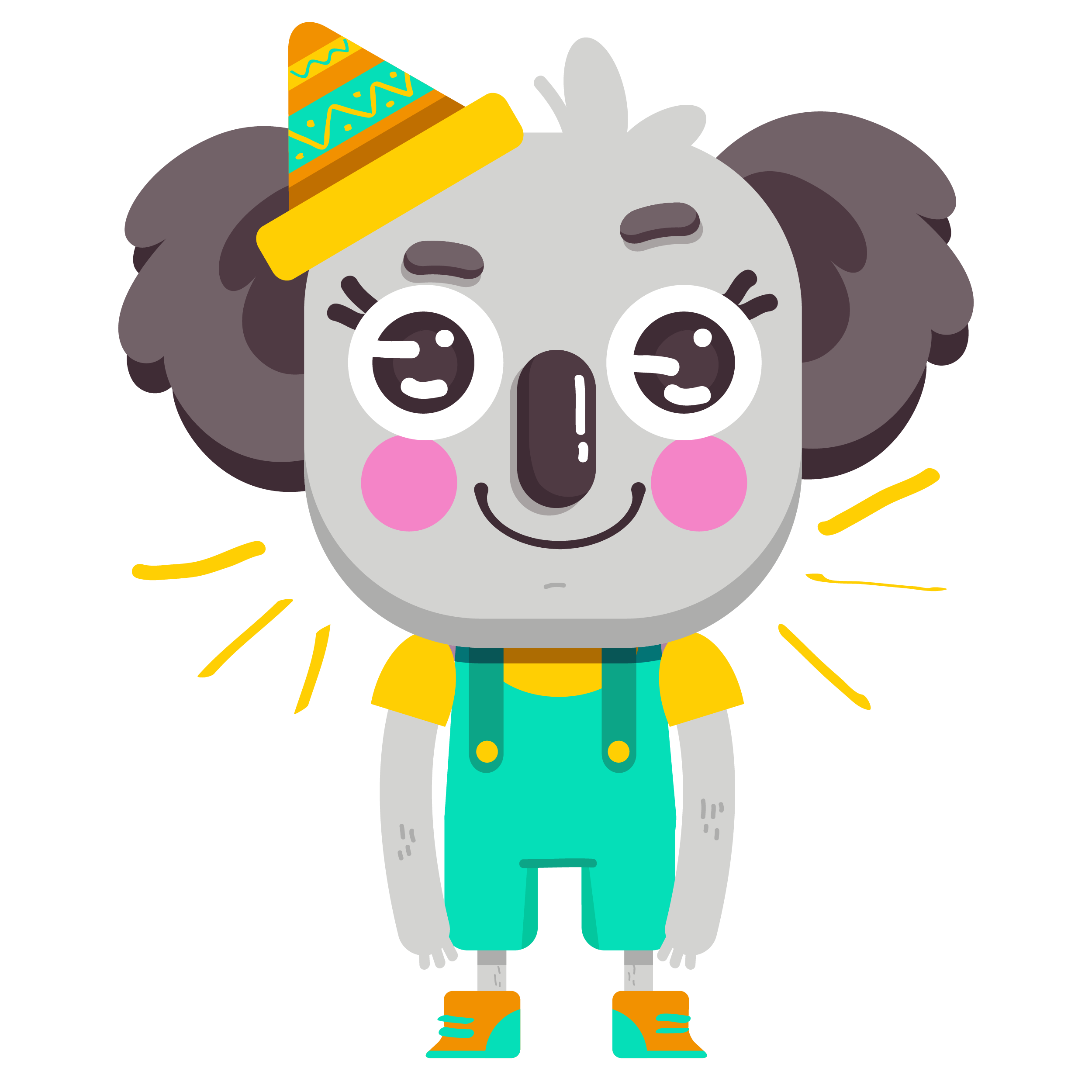 Cute Koala Vibes messages sticker-1