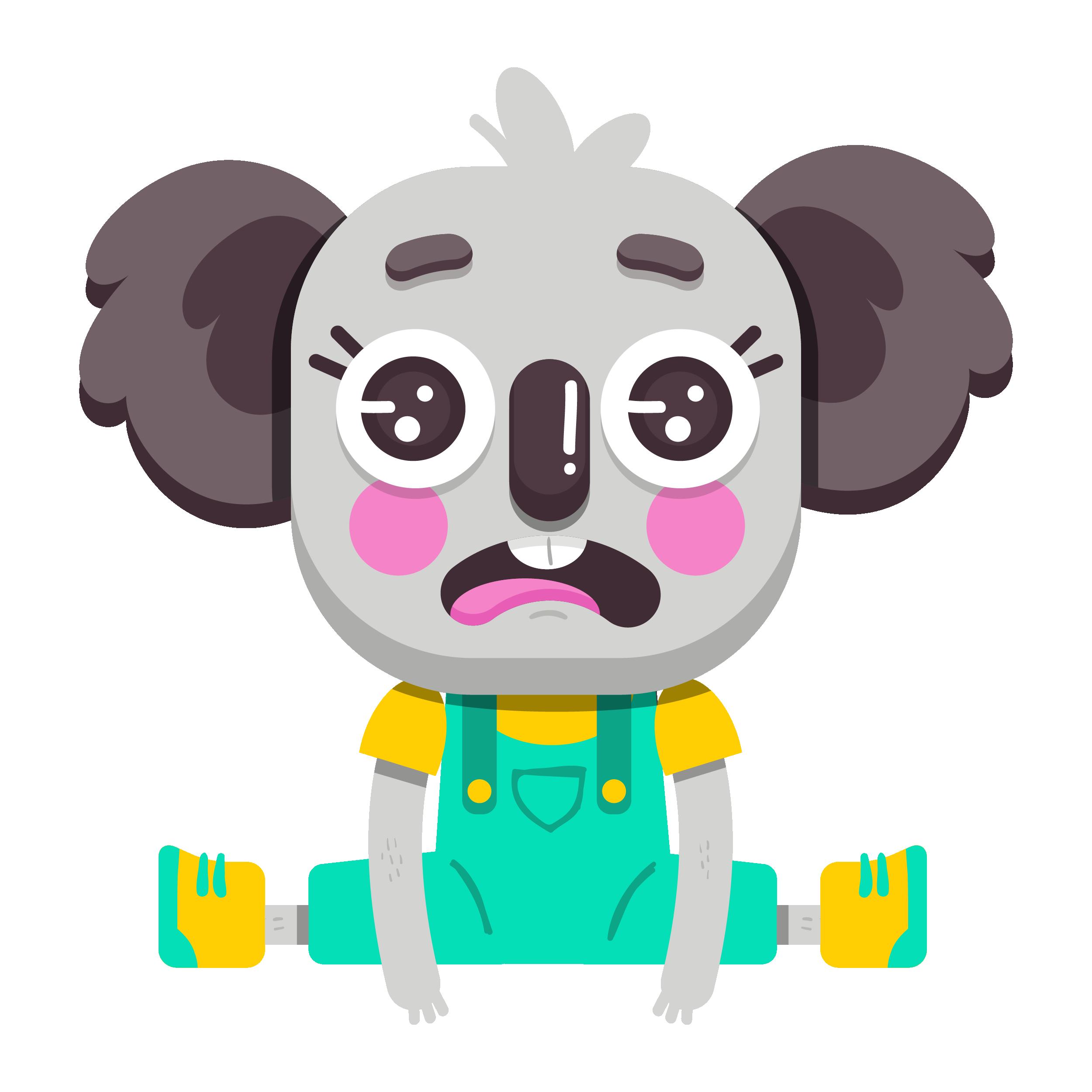 Cute Koala Vibes messages sticker-4