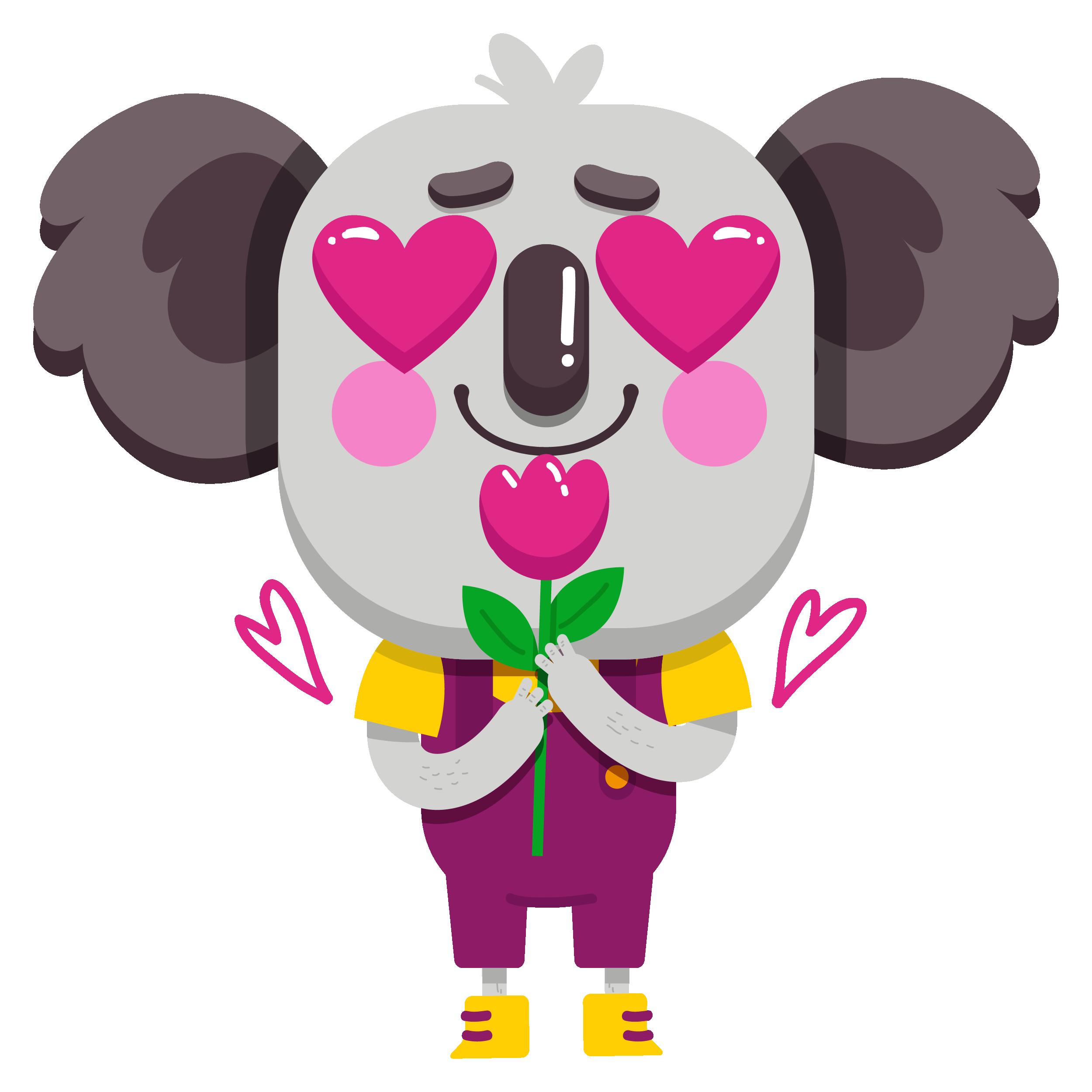 Cute Koala Vibes messages sticker-0