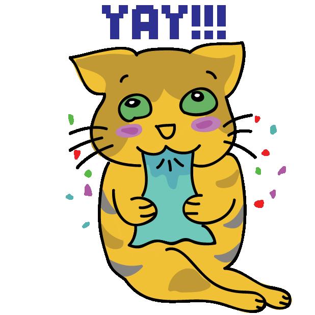 Funny Cat Emoji Stickers messages sticker-0