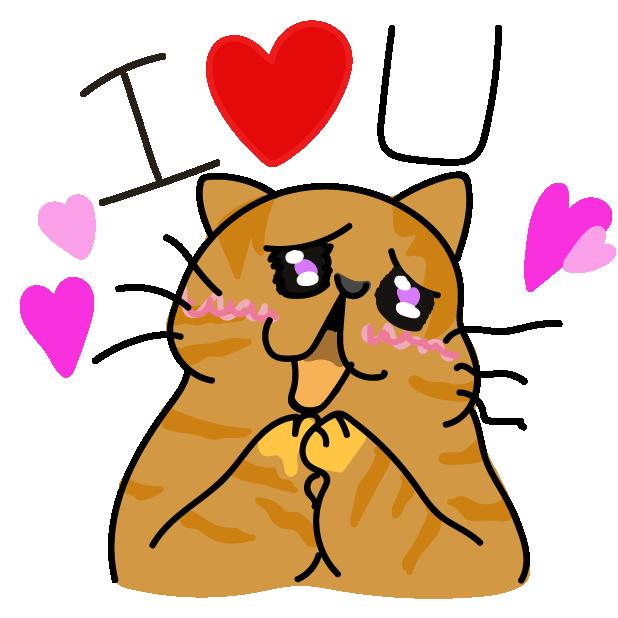 Funny Cat Emoji Stickers messages sticker-8