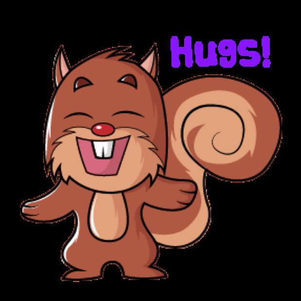 Squirrel Stickers (Wafer) messages sticker-8