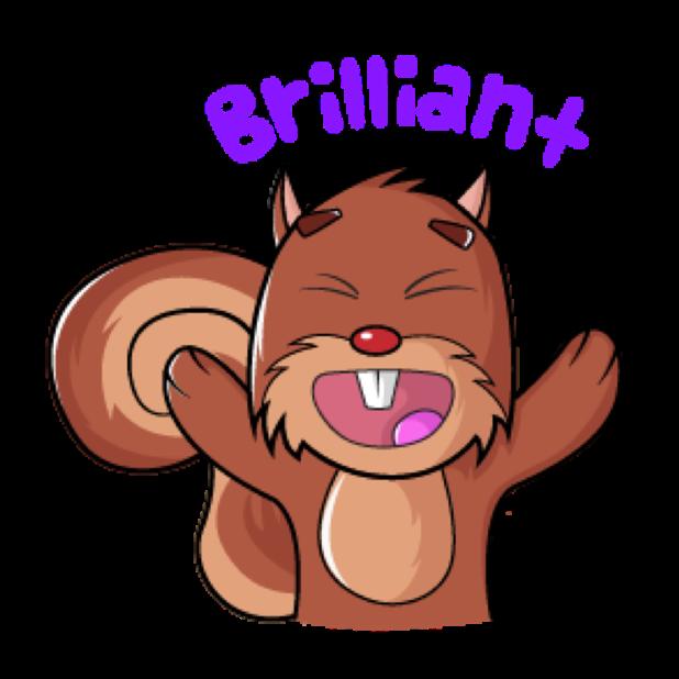 Squirrel Stickers (Wafer) messages sticker-1