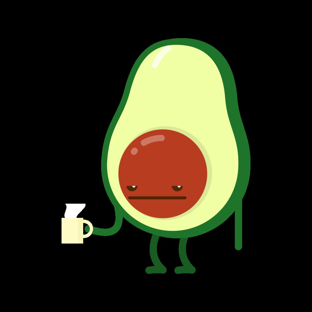 Avocado Life messages sticker-8