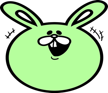 Face rabbit messages sticker-3