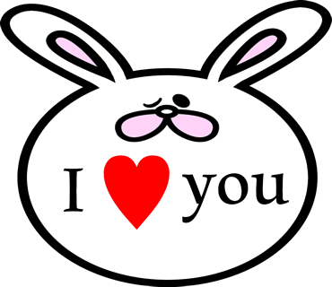 Face rabbit messages sticker-10