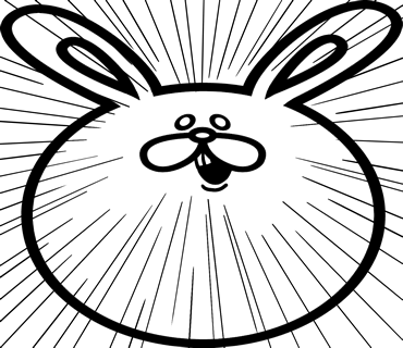 Face rabbit messages sticker-0