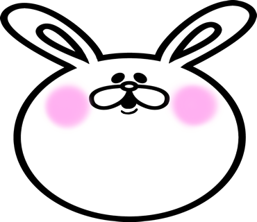 Face rabbit messages sticker-8