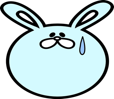 Face rabbit messages sticker-2