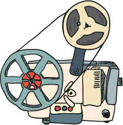 Vintage Cinema - Retro Movie Collection messages sticker-9