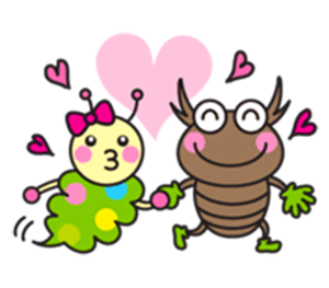 Family of Beetles messages sticker-10