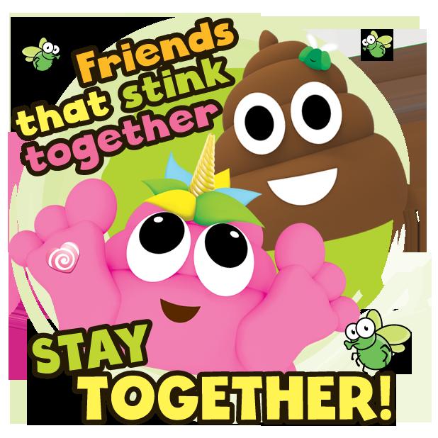 Poo-nicornicopia Stickers messages sticker-5