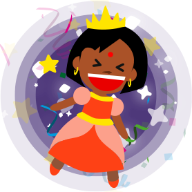 Princess Parachute messages sticker-0