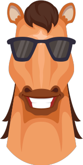 Horse Emojis messages sticker-3