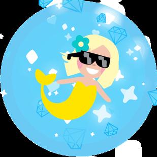 Mermaid Seaquest messages sticker-3