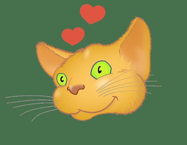 Golden Cat emoji messages sticker-8