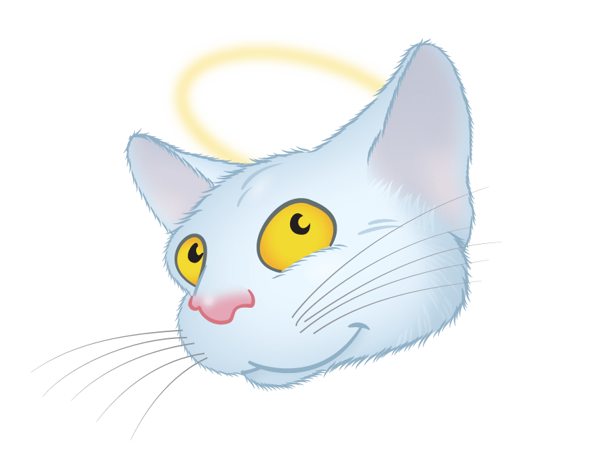 White Cat emoji messages sticker-9