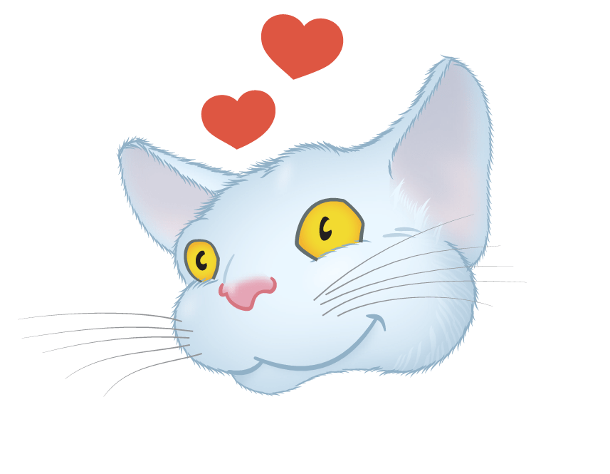 White Cat emoji messages sticker-8