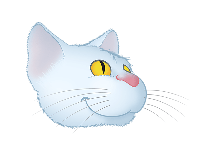 White Cat emoji messages sticker-10
