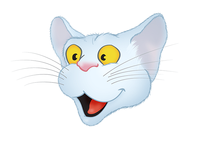 White Cat emoji messages sticker-2