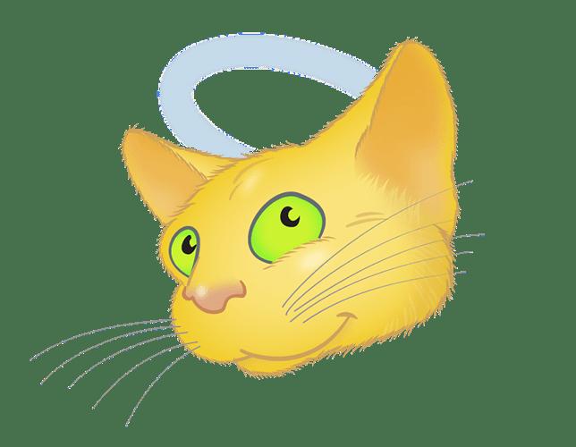 Yellow Cat emoji messages sticker-9