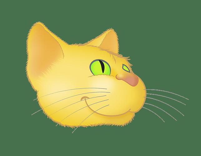 Yellow Cat emoji messages sticker-10