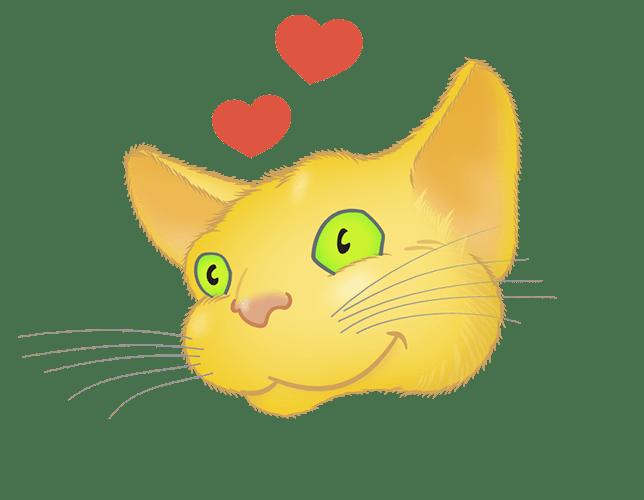Yellow Cat emoji messages sticker-8