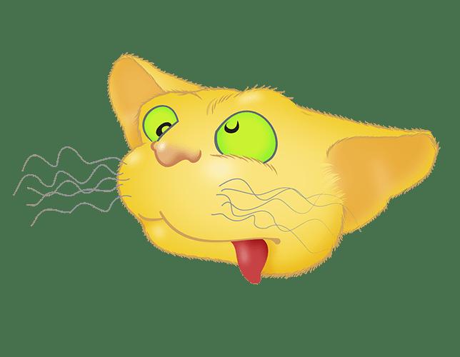 Yellow Cat emoji messages sticker-5