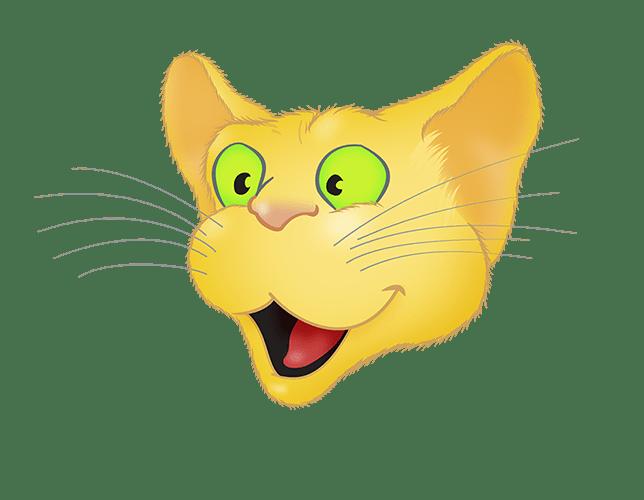 Yellow Cat emoji messages sticker-2