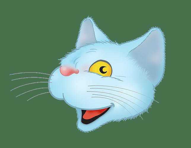 Blue Cat emoji messages sticker-7