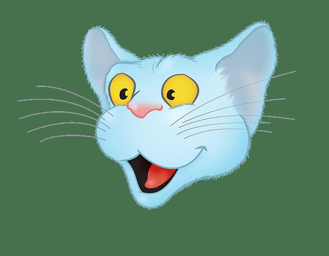 Blue Cat emoji messages sticker-2