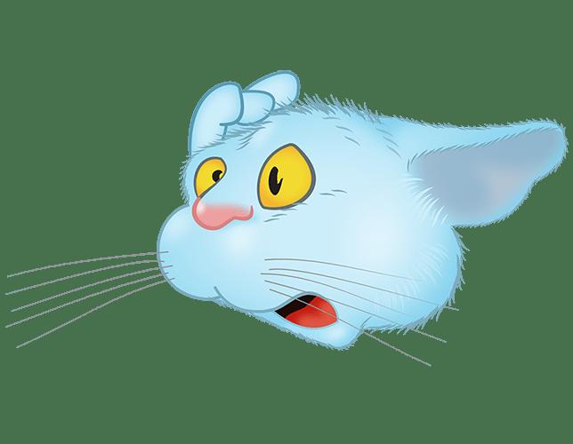 Blue Cat emoji messages sticker-4