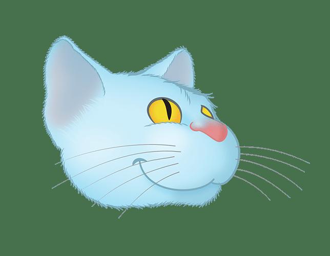 Blue Cat emoji messages sticker-10