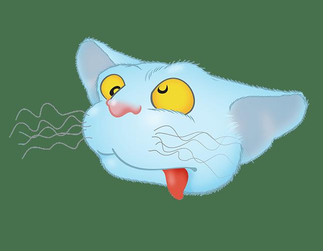 Blue Cat emoji messages sticker-5